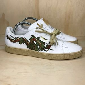 NEW Puma Court Dragon Patch Classic Suede